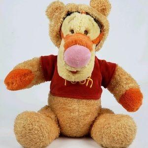 Disney Baby Tigger Dressed as Pooh Rattle Plush